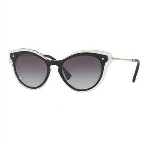 VALENTINO black cat eye POLARIZED sunglasses